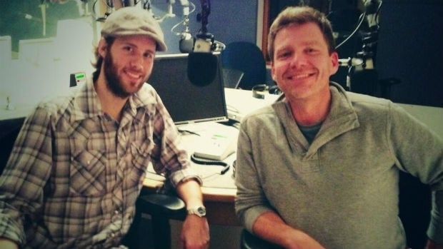 Singer-songwriter Kevin Roy with CBC Host Bruce Ladan