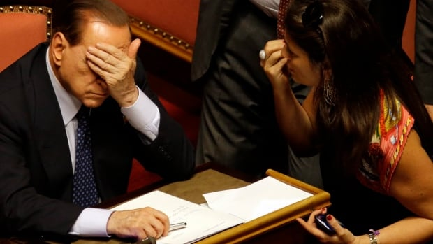 Berlusconi's troubles aren't over.  He is facing a seven-year sentence and lifetime political ban after being convicted this summer of having paid a minor for sex and forcing officials to cover it up.