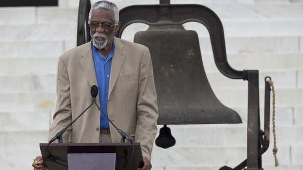 NBA basketball legend Bill Russell was carrying a .38-calibre pistol that was loaded with six rounds.