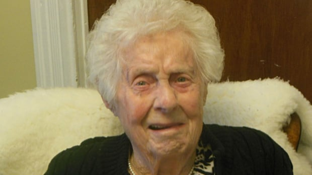 Clotilda O'Brien, 100, will be presented with a special pin from Memorial University on Saturday. She graduated in 1960.