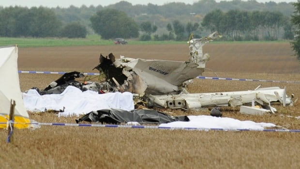Three people tried to jump out before the plane crashed but were too late, said authorities.