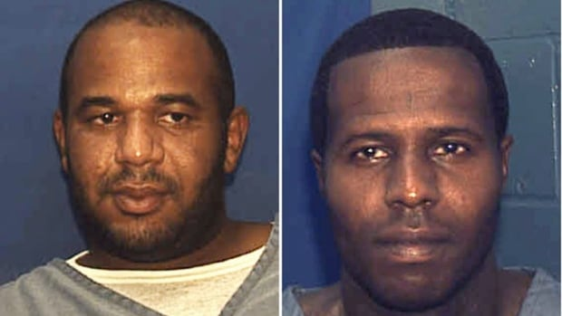 Joseph Jenkins, left and Charles Walker were mistakenly released from prison in Franklin County, Fla.,  in late September and early October.