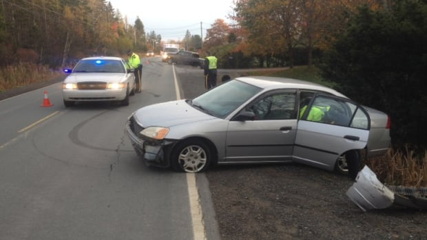 No one was injured in a crash on Lucasville Road Tuesday morning.