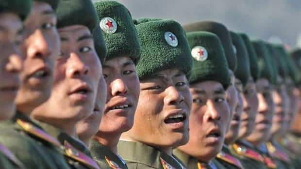 North Korean soldiers take part in a military parade in Pyongyang on Feb. 16, 2012, marking the 70th birthday of the country's late leader Kim Jong-il, who died in December 2011. North Korea's military ambitions have long riled the U.S. and other Western powers, who worry the totalitarian state is trying to arm ballistic missiles with nuclear warheads that it could use in an attack against its enemies.