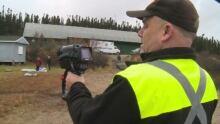 Craig Porter demonstrates new thermal imaging camera