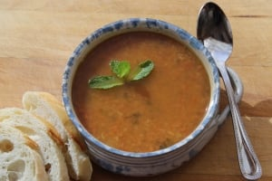 D is for Dinner Moroccan Soup