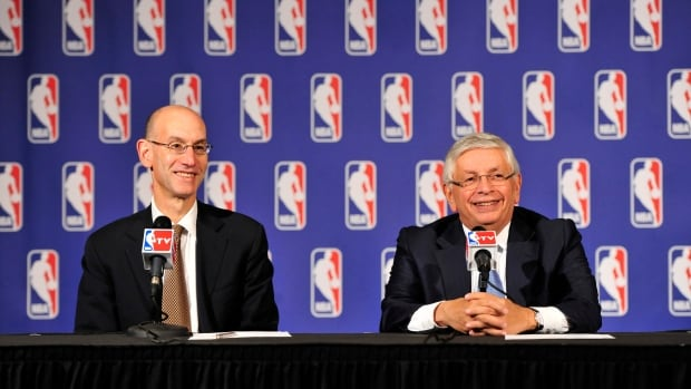 Deputy NBA Commissioner Adam Silver and NBA Commissioner David Stern addresses the media after the Board of Governors meetings during a press conference on Wednesday at the St. Regis Hotel in New York City.