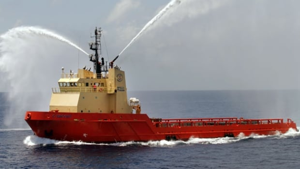 The U.S. oil supply ship C-Escort, owned by Edison Chouest Offshore of Cut Off, La., is a sistership to the C-Retriever, which has been attacked by pirates off the coast of Nigeria.