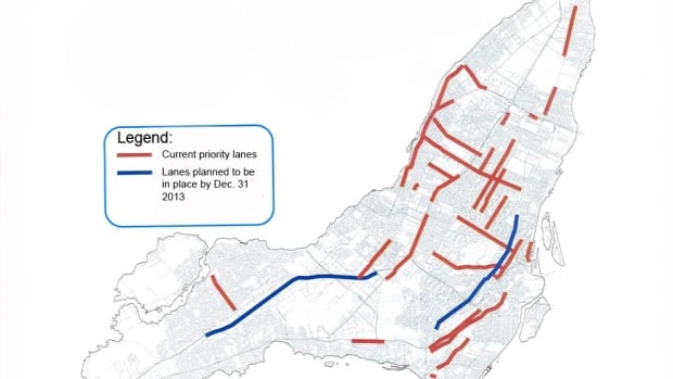STM's planned expansion of reserved bus lanes by 2020.