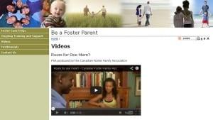 Foster parent recruitment web site