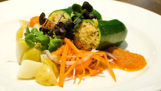 Stuffed Zucchini dish from Elements the Restaurant where Kelly Cattani works.