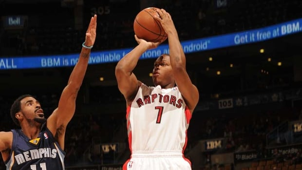 Toronto Raptors point guard Kyle Lowry injured his finger in Wednesday's 108-72 pre-season win over Memphis.