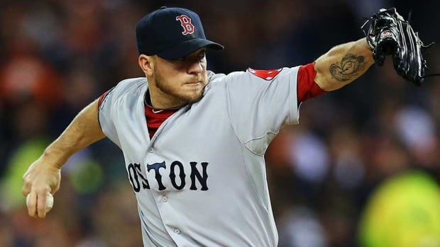Boston Red Sox pitcher Jake Peavy gave up seven runs in three innings in his only ALCS start.