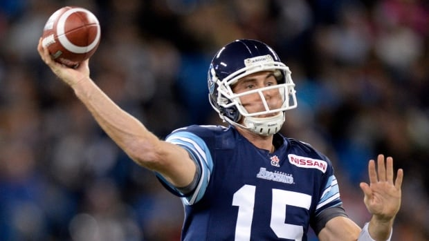 Ricky Ray Ray finished 39-of-45 passing for a career-high 505 yards to earn the Toronto Argonauts first in the East Division for the first time since 2007.