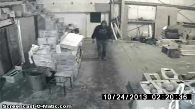 Surveillance video of a break-in at the Tai Sun Restaurant on Cromer Avenue in Grand Falls-Windsor.