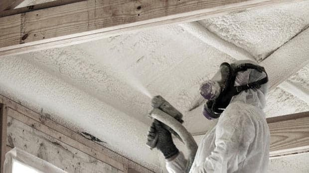 Spray foam insulation can go very wrong