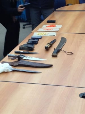 Drugs, weapons seized