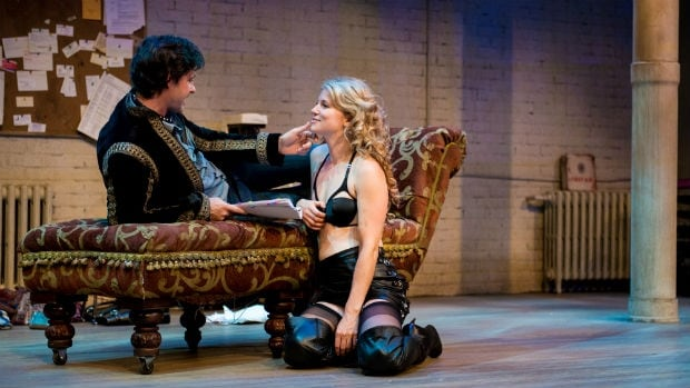 Allison Brennan as Vanda & Matthew Edison as Thomas in Venus in Fur.