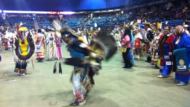 Hundreds of people are gathering in Saskatoon this weekend for the Federation of Saskatchewan Indian Nations annual powwow.