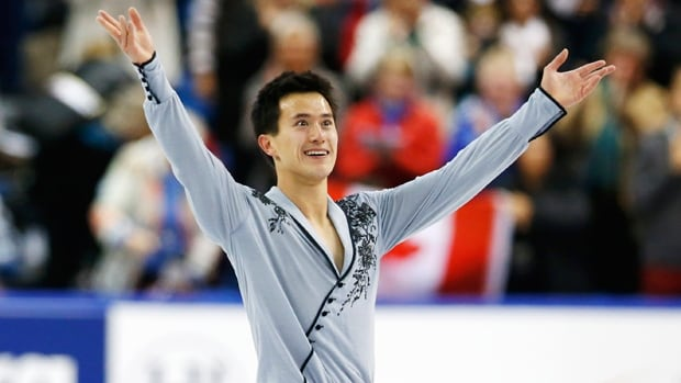 Canada's Patrick Chan landed landed two huge quad jumps on his way to winning gold at the Skate Canada International figure skating competition on Saturday.