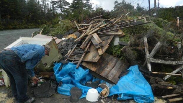A large pile of garbage was dumped last week at Deer Park, off the Salmonier Line.