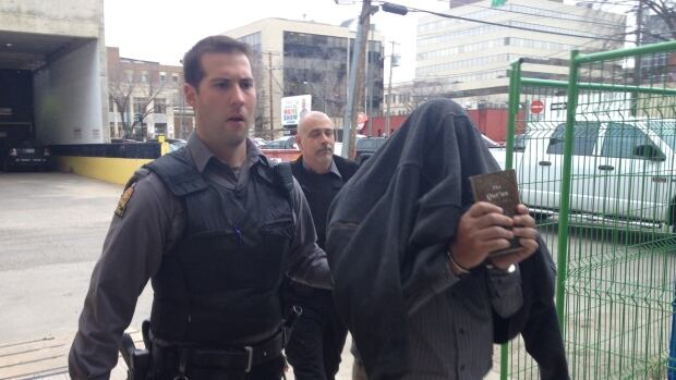 George Allgood arrives at court