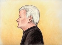 Alain Blais court sketch