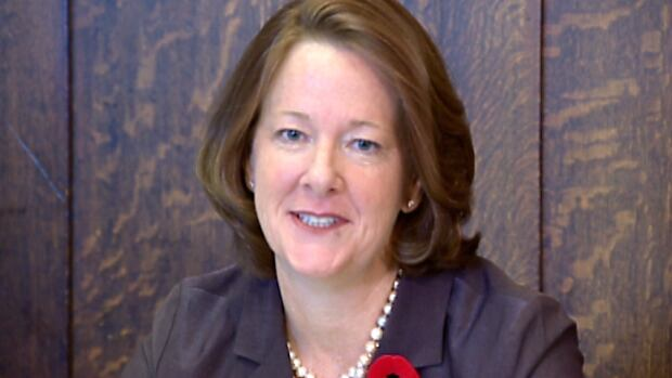 Premier Alison Redford spoke to the Conservative caucus Monday morning to outline the fall agenda.