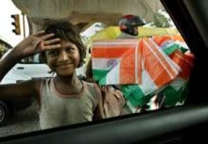 Pics For > Indian Poor Children With Flag