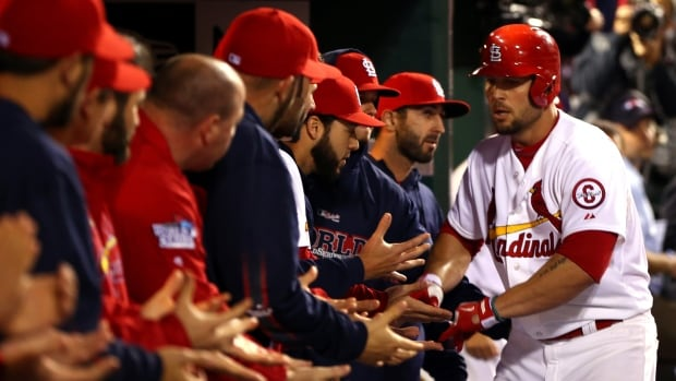 The Cardinals have been grounded in St. Louis after mechanical problems to the team's plane. The Cards, down 3-2 to the Red Sox, were headed to Boston for Wednesdauy night's Game 6 of the World Series.