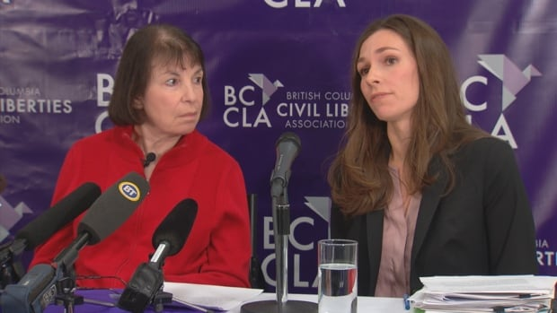 Multiple sclerosis patient Elayne Shapray (left) and B.C. Civil Liberties Association's Grace Pastine are fighting the assisted suicide ban.