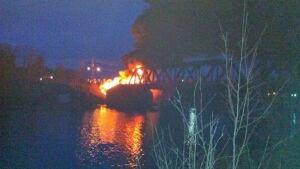 James St. bridge fire