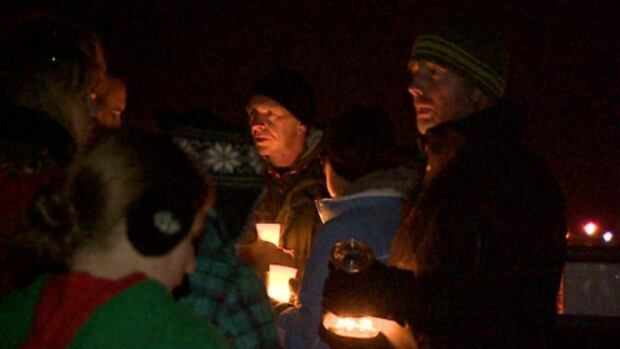Some people at the vigil were calling for stronger animal cruelty laws.