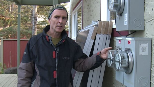 Tim Fordyce says he can see his power meter going backwards when the sun is shining on the solar panels. He already saves about $150 a year.
