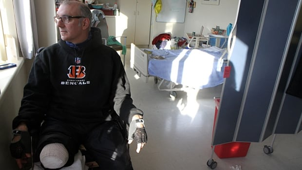 """""""People say 'Why is this happening to you?'"""" says Stephen Hayes. """"I'm trying not to think that way."""" The local filmmaker lost his leg while walking down the street on Sept. 7, when a vehicle in a two-car crash hit him. The Hamilton Film Festival is holding a fundraiser for him."""