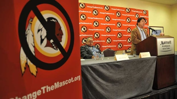 Ray Halbritter, Oneida Indian Nation Representative, speaks at a press conference after meeting with senior officials of the NFL about changing the mascot name of the Washington Redskins Wednesday in New York.