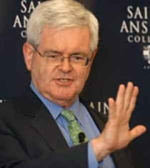 Newt Gingrich, former Republican speaker in the U.S. House of Representatives. (AP file photo) - gingrich-newt-cp-7482056