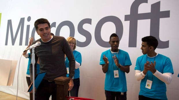 Microsoft Canada president Max Long opens the first international Microsoft Store in Toronto on Friday Nov. 16, 2012.  Microsoft Canada is being sued in British Columbia for allegedly overcharging for its operating systems and applications.