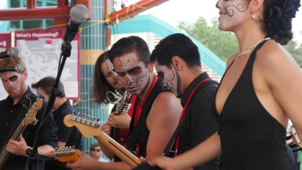 Mariachi Ghost shows are highly theatrical - featuring dancers, horns, and full make-up.