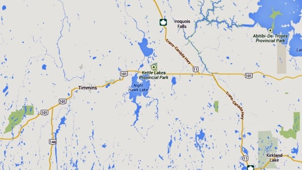 Iroquois Falls map