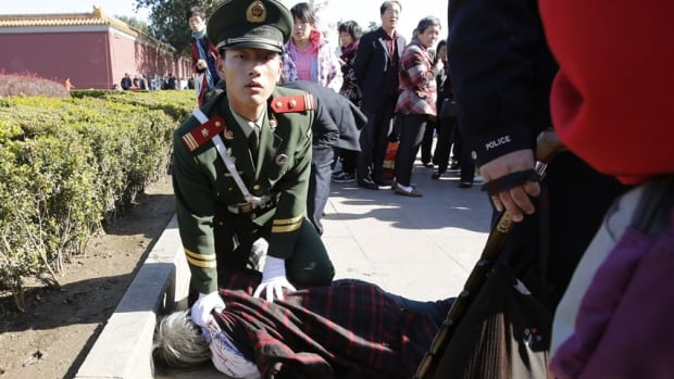 Five people were killed and dozens injured after an SUV plowed through crowds of people near Tiananmen Square, a politically sensitive area with a heavy security presence.
