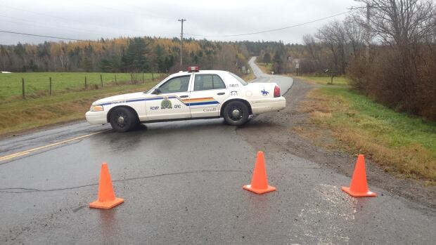 RCMP blocked access to Stewart Hill Road for several hours.