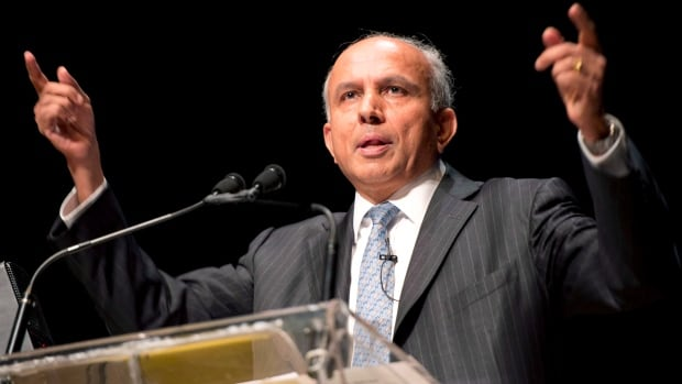 Fairfax Financial CEO Prem Watsa speaks at the company's annual general meeting in Toronto on  April 11. Fairfax announced $571 million in losses for the third quarter.
