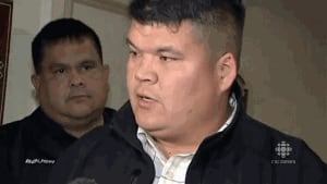 Elsipogtog First Nation Chief Aaron Sock