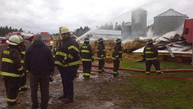 Ninety-three dairy cattle were lost in the Union, near Elmsdale barn fire.