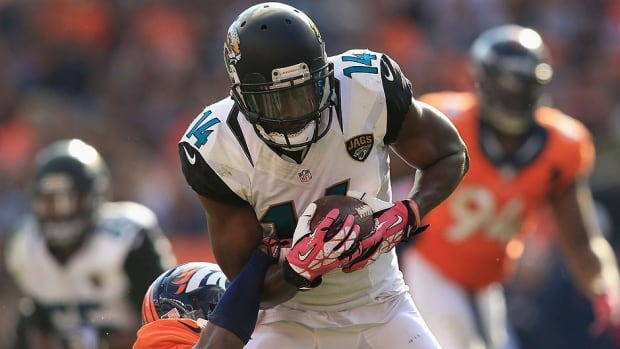 Jaguars wide receiver Justin Blackmon, who is suspended indefinitely for violating the NFL's substance-abuse policy, will be eligible to apply for reinstatement prior to the start of the 2014 season.