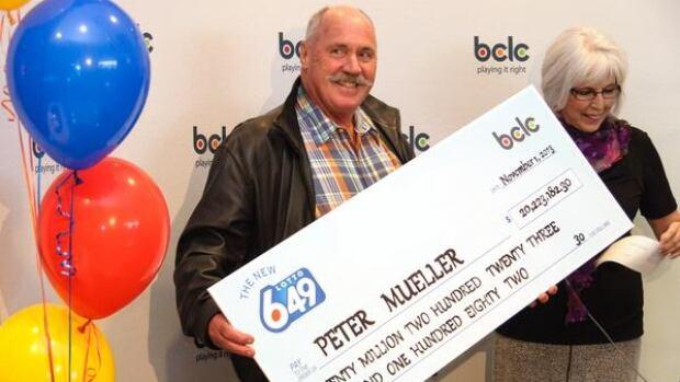 Peter Mueller was the winner of Wednesday's $20-million Lotto 6/49 jackpot.