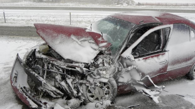 Airdrie RCMP are warning people to avoid unnecessary travel after 10 crashes on Highway 2 between Calgary and Didsbury.