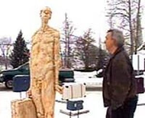 Controversial nude statue finds new home - Canada - CBC News