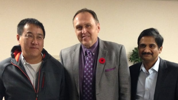 Dr. Ken Quong, seen here at left, with Yukon Premier Darrell Pasloski and Dr. Rao Tadepalli, is the new president of the Yukon Medical Association.